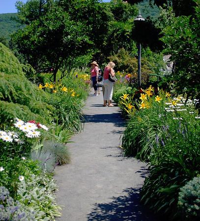 Walking on the Bridge of Flowers