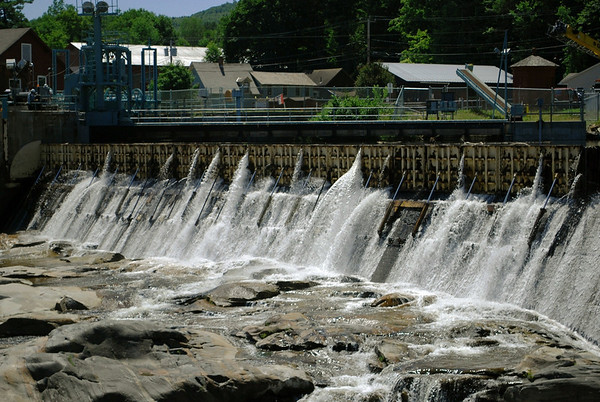 Dam on the Greenfield River at Salmon Falls