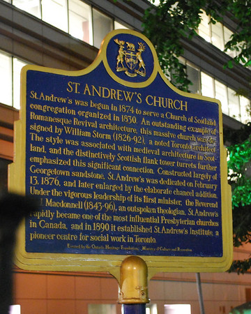 Plaque for St. Andrew's Church