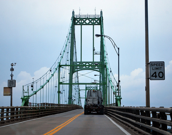 Crossing the Thousand Islands Bridge - still on the American side.
