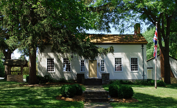 Front view of the restored Laura Secord Homestead in Queenston, Ontario.