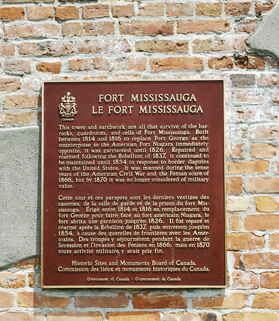 Historic Plaque at Fort Mississauga