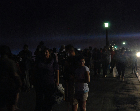 Just a glimpse at a few of the tourists crowding the sidewalks along the Parkway