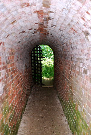 Gate at the end of the tunnel leading to Lake Ontario from inside Fort Mississauga.