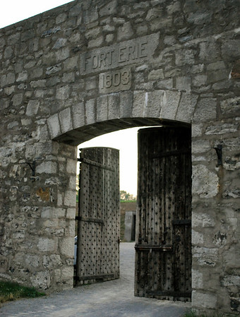 The Outer Gate at Fort Erie consisted of large wooden double doors with iron studding and reinforcements.