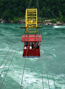 Whirlpool Aero Car crossing over the Niagara River
