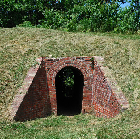 Tunnel from inside Fort Mississiagua down towards Lake Ontario