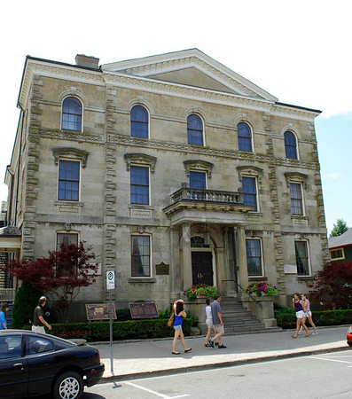 The Court House which serves as a Shaw Festival theatre and Parks Canada headquarters of Niagara National Historic.  Sites.