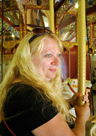 Carole on the Port Dalhousie Carousel.