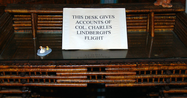 Close-up of the Lindbergh desk.
