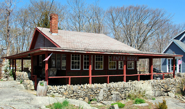 The 1924 Paper House located in the Pigeon Cove section of Rockport, Massachusetts.