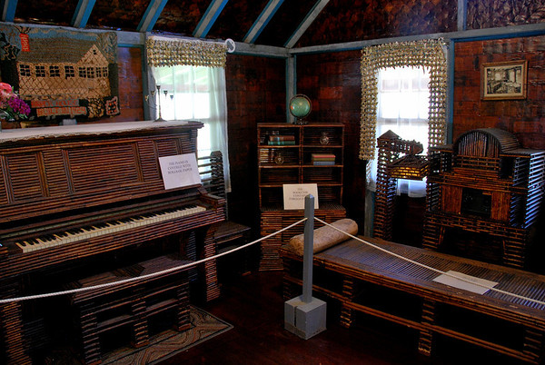 The piano, bookcase, bed, and radio cabinet that was made in 1928 during Hoover's campaign for President