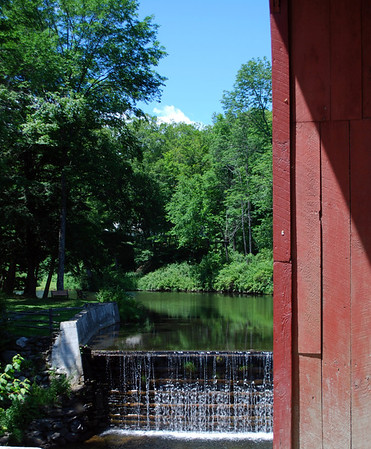 The Green River flows beneath the appropriately named Green River Covered Bridge!