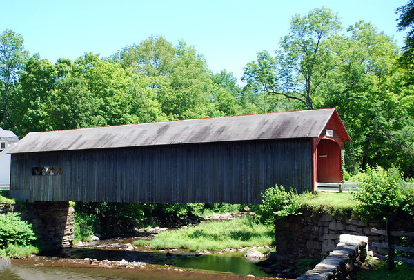 Built in 1870, the  single-lane Green River Bridge is a 104-foot Town Lattice design that spans the Green River on Stage Road in Green River Village near Guilford.